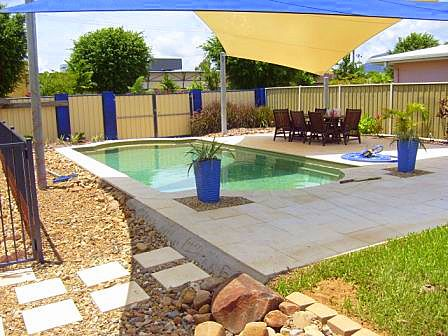 Pool in backyard Northern Land Design